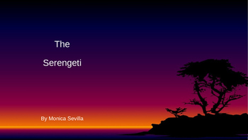 The Serengeti Powerpoint