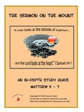 The Sermon on the Mount Study Guide Unit Worksheets