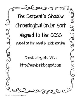 The Serpent's Shadow Chronological Order Sort
