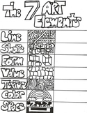 The Seven Art Elements Handout/ Coloring Sheet