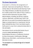 The Seven Catholic Sacraments Handout