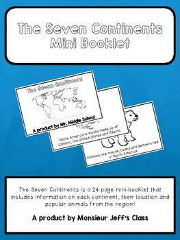 The Seven Continents Mini-Booklet