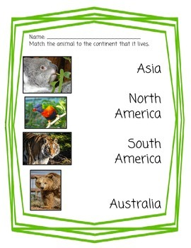The Seven Continents: Nonfiction Passage and Comprehension Questions