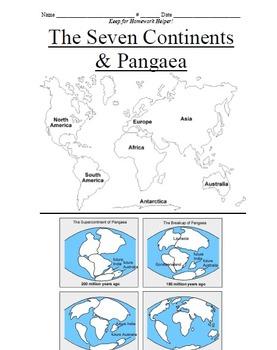 The Seven Continents & Pangaea