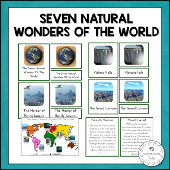 The Seven Natural Wonders Of The World Montessori Cards