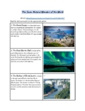 The Seven Natural Wonders of the World - Great for Online Learning!