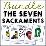 The Seven Sacraments Set of Posters, Coloring Pages, and Mini Book BUNDLE