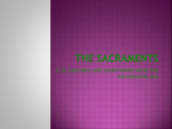 The Seven Sacrements