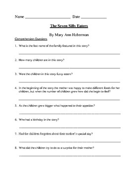 The Seven Silly Eaters - An SLP Unit