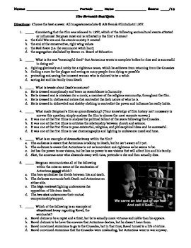 The Seventh Seal Film (1957) 15-Question Multiple Choice Quiz
