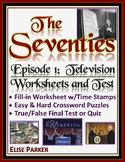 The Seventies Episode 1 Worksheets, Puzzles, and Test