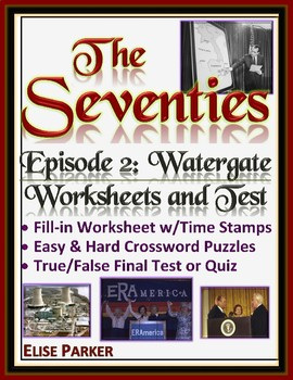 The Seventies Episode 2 Worksheets, Puzzles, and Test