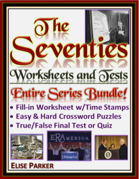 The Seventies Worksheets -- ENTIRE SERIES BUNDLE -- Episodes 1-8