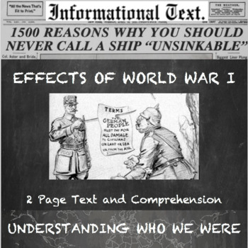 The End and Impact of World War 1