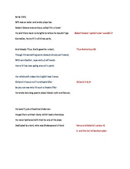 The Shakespeare Rap!  Introduce students to Shakespeare's life and times.