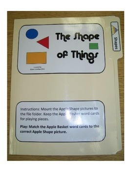 The Shape of Things: File Folder Activity