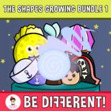 The 2D Shapes Clipart Growing Bundle 1