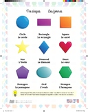 The Shapes in a French Language Poster