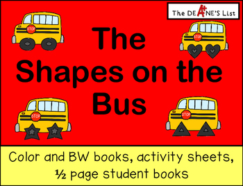 The Shapes on the Bus-Book, student book, & activity sheets
