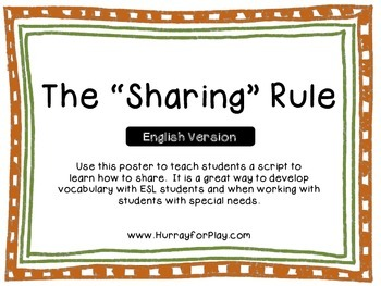 """The """"Sharing"""" Rule Poster (English)"""
