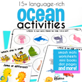 The Shark Was Swimming Ocean Animal Unit Vocabulary Activities for Preschool