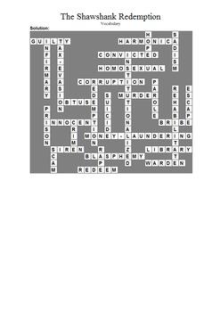 The Shawshank Redemption - Vocabulary Puzzle