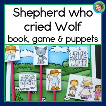 Fable: The Shepherd Who Cried Wolf, guided reading book, game, & story props