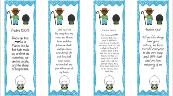 The Shepherd and his Sheep bookmark