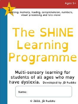 The Shine Learning Programme: Unit 1, brand new dyslexia programme.