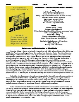 The Shining Film (1980) Study Guide Movie Packet