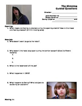 The Shining Guided Questions