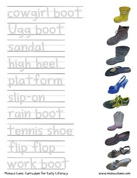 """""""The Shoe Box"""" Homework Kit for Kindergarten (Set B #1 of 7)"""