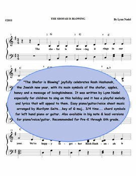 The Shofar is Blowing - Easy piano children's song for Rosh Hashanah