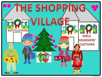 "Christmas Shopping ""The Shopping Village"" (Money Activities)"