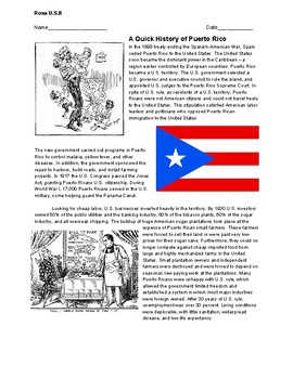 The Short Early History of Puerto Rico