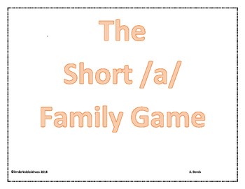 The Short /a/ Word Family Game