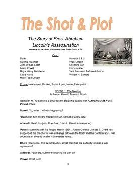 Reader's Theater Play - The Shot & Plot: Abraham Lincoln's Assassinaton