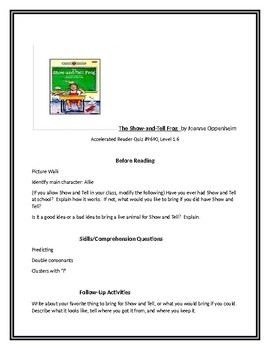 The Show and Tell Frog for Guided Reading