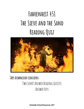 The Sieve and the Sand Reading Quiz (Fahrenheit 451)