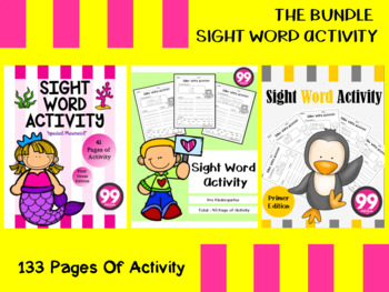 Sight Word Activity The Bundle By 99 Children