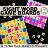 Kindergarten Word Games with LETTER TILES and GAME BOARD Templates