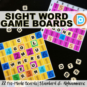 Sight Words Game Boards | Editable Templates to Create Your Own Word Games