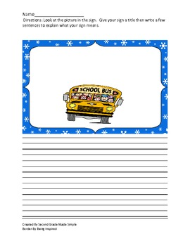 The Sign maker's Assistant center/Create a sign writing activity