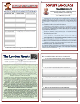 The Sign of Four Comprehension Activities Booklet!