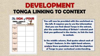 The Sign of Four - Tonga!