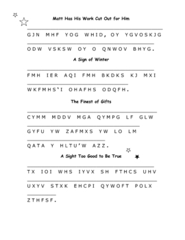 The Sign of the Beaver: 12 Cryptograms--Encoded Similes!