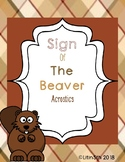 The Sign of the Beaver Acrostics