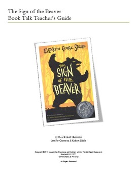 The Sign of the Beaver Book Talk Teacher's Guide