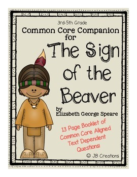 The Sign of the Beaver Common Core Companion student quest