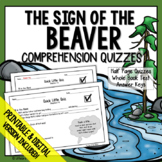 The Sign of the Beaver Comprehension Questions (Sign of th